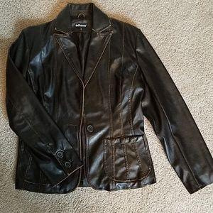 Espresso Brown Vegan Leather Jacket